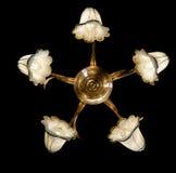 Empfindlicher Leuchter von den Blumenlampen lokalisiert auf Schwarzem Lizenzfreie Stockfotos