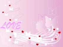 Empfindlicher rosafarbener Hintergrund Stockfoto