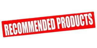 Empfohlene Produkte stock abbildung
