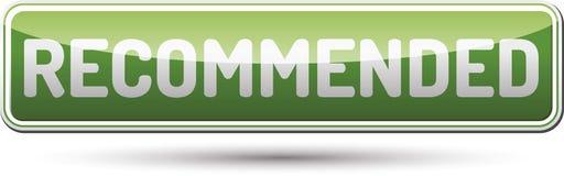 Empfohlener Knopf - glatter Knopf mit Schatten Lizenzfreies Stockfoto
