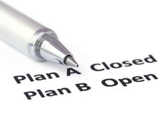 Emphasis on Plan B Stock Images