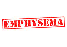 EMPHYSEMA. Red Rubber Stamp over a white background Stock Images
