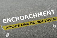 Empiétement - concept criminel Photos stock