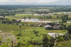 Empiétement industriel et agricole Images stock