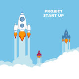 Empiece para arriba Rocket Ship libre illustration