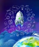 Empiece para arriba, sistema del infographics del negocio stock de ilustración
