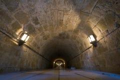 Empiedre el túnel con las luces Fotografía de archivo libre de regalías