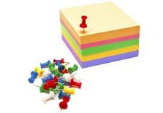 Empila el papel pegajoso colorido Foto de archivo libre de regalías