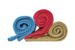 Empilement des chaussettes de laine d'hiver Images stock