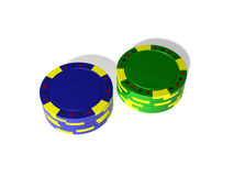 Empilha microplaquetas de pôquer Foto de Stock Royalty Free
