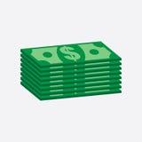 Empilha o dinheiro do dólar Fotografia de Stock