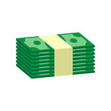 Empilha o dinheiro do dólar Fotos de Stock Royalty Free