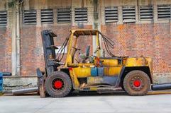 A empilhadeira amarela Foto de Stock