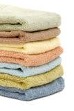 Empilhado acima das toalhas dos termas/banho Imagem de Stock