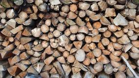 Empilhado poucos cotoes de árvore mais velhos fotos de stock