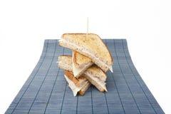 Empilhando sanduíches Fotografia de Stock