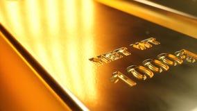 Empilhe barras de ouro do close-up, peso de barras de ouro 1000 gramas de conceito da riqueza e reserva Conceito do sucesso no ne imagem de stock royalty free