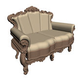 Empir sofa Royalty Free Stock Images