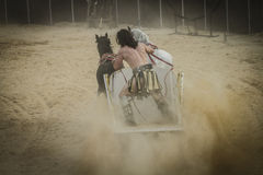 Empire, chariot race in a Roman circus, gladiators and slaves fi Royalty Free Stock Photos