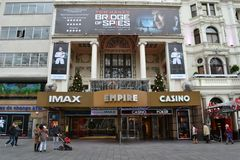 Empire cinema Leicester Square London Royalty Free Stock Photos