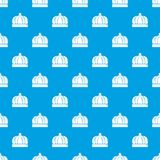 Empire crown pattern vector seamless blue. Repeat for any use Stock Image