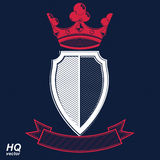 Empire design element. Heraldic royal coronet illustration Royalty Free Stock Photography