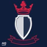 Empire design element. Heraldic royal coronet illustration Royalty Free Stock Photography