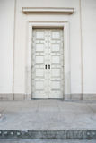 Empire door. Old white empire door Stock Photos