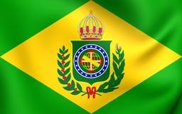 Empire du drapeau 1822-1889 du Brésil illustration libre de droits