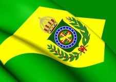 Empire du drapeau 1822-1889 du Brésil illustration de vecteur