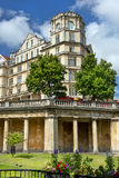 Empire Hotel in Bath, Somerset, England. BATH, ENGLAND - JULY 28: view of the Empire Hotel, by architect Charles Edward Davis on July 28, 2015 in Bath, Somerset Royalty Free Stock Photography