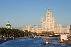 Empire in Moscow. Stalin's empire on Kotelnicheskaya embankment in Moscow Stock Photos