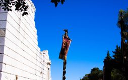 the empire roman symbol SPQR in La Turnie near Monaco royalty free stock photos