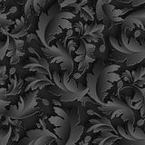 Empire seamless black paper pattern Stock Images