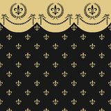 Empire seamless pattern. Neoclassical seamless background with laurel wreath and fleur de lis, full scalable vector graphic included Eps v8 and 300 dpi JPG Royalty Free Stock Images