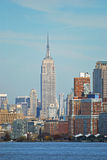 Empire State Building. Photo taken from hudson river Stock Image