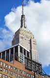 Empire State Building. Top of Empire State Building on Fifth Avenue in midtown New York City, USA Royalty Free Stock Photos