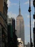 Empire State Building. At union square view Stock Images