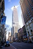 Empire State Building and 34th street Stock Photo