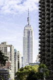 The Empire State Building,. NEW YORK - OCT 30: The Empire State Building, view from street level, OCTOBER 30, 2013 in New York, USA. The Empire State Building is Royalty Free Stock Photography