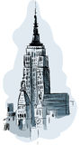 Empire State Building illustration stock