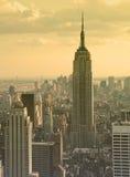 Empire State Building al crepuscolo Immagini Stock Libere da Diritti