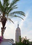 Empire State Building al tramonto Fotografia Stock