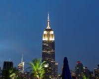 Empire State Building al tramonto Fotografie Stock