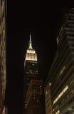 Empire State Building alla notte Immagine Stock