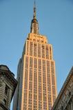 Empire State Building au coucher du soleil Photographie stock