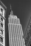 Empire State Building B&W fotografia stock libera da diritti