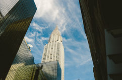 Empire State Building from Below stock image