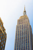 The Empire State Building from bottom Stock Photography