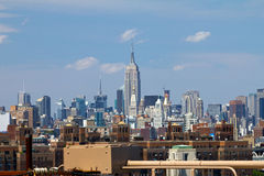 Empire State Building from the Brooklyn Bridge Royalty Free Stock Photos